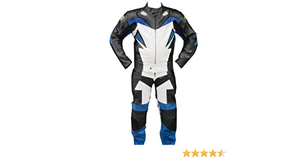 Motorcycle Cowhide Leather Suit Racing Motorbike Riding Suit Jacket Pant Armour