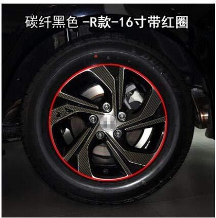 Carbin Fibre Powder Carbin Fibre Red Purple Green colors 16 Inch Wheels Rims Stickers for Honda Accord 2016 BA060A  (color Name  Powder)