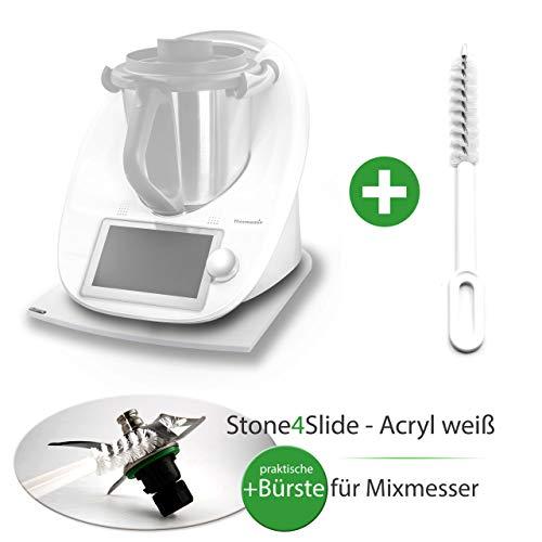 Stone 4slide Thermomix gleiter Deslizante Tabla acrílico Blanco + Mix Cuchilla de Cepillo: Amazon.es: Hogar