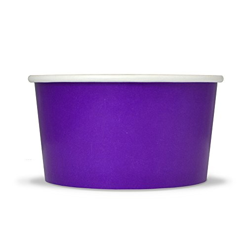 Purple Easter Paper Ice Cream Cups - 4 oz Small Dessert Bowls - Comes In Many Colors & Sizes! Frozen Dessert Supplies - Fast Shipping! 100 Count ()