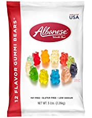 Albanese World's Best 12 Flavor Gummi Bears, 5 Pound Bag