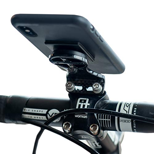 Carbon Fiber Cell Phone GPS Bike Mount | Handlebar Stem Cycle Computer Holder |