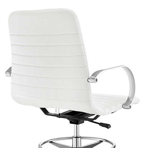 Modway EEI-2863-WHI Groove Ribbed Back, Drafting Chair, White by Modway (Image #6)