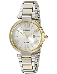 Seiko Womens SUT174 Analog Display Japanese Quartz Two Tone Watch