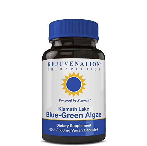 Rejuvenation Therapeutics - Klamath Blue-Green Algae | More Powerful Than SPIRULINA Or Chlorella | Grown from The Clean Pure Source of Klamath Lake | 500 MG 60CT Vegan Capsules (Best Blue Green Algae)