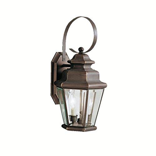 Olde Bronze Savannah Estates Collection 2 Light 19in. Outdoor Wall Light (Collection Light Savannah Two)