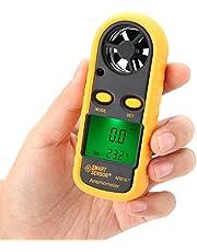 Temperatura digital de la velocidad del viento con pantalla LCD, anemómetro digital de mano para medir la velocidad de la velocidad del viento AR816,Medición de la velocidad del viento: 0~30 m/s