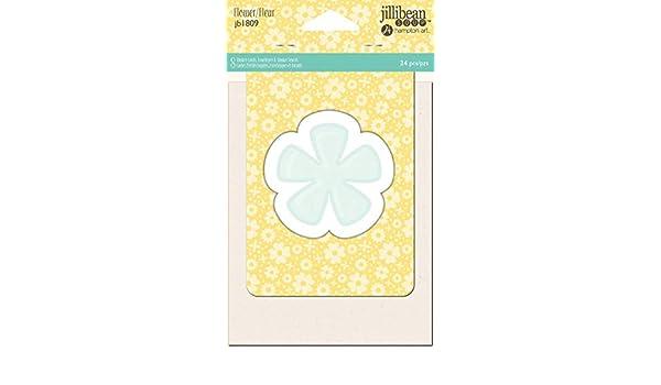 Jillibean Soup PVC Card Shakers 24//Pkg Flower 729632191374
