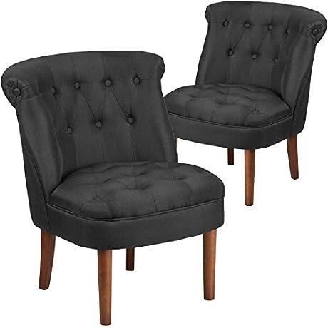 Flash Furniture 2 Pk HERCULES Kenley Series Black Fabric Tufted Chair