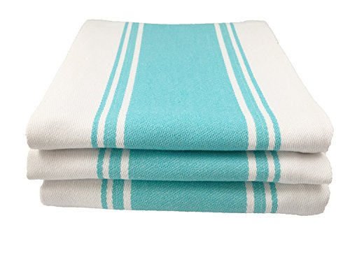 Generic 3pcs Kitchen Dish Tea Towels By Cucinare 100% Cotton by Generic