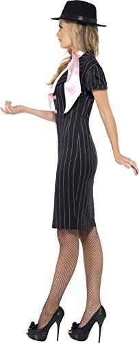 Smiffy's Gangsters Moll Costume, Black/Pink, Medium