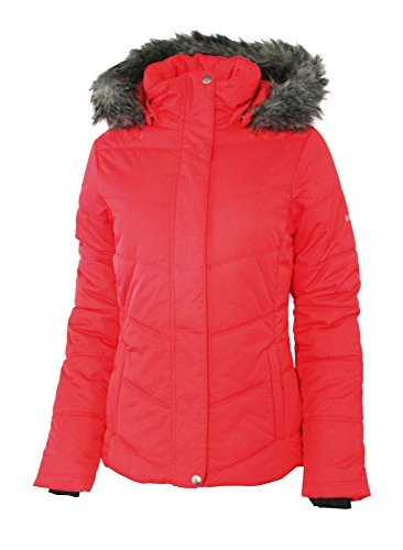 Columbia Women's Simply Snowy II Insulated Puffer Jacket Red Camellia (S)