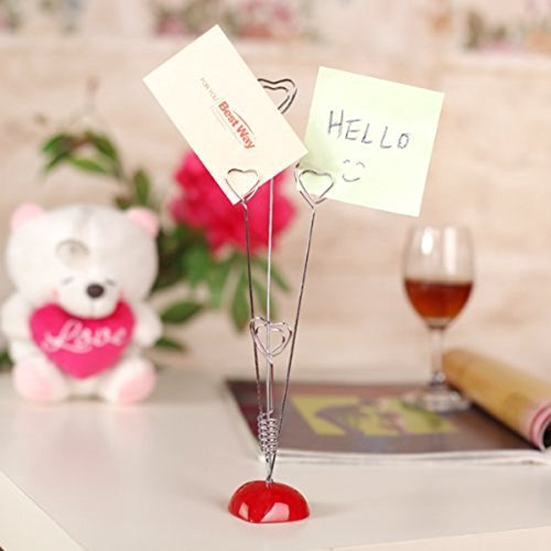 Dproptel Upgraded Heart-Based 4 Wire Clasps Card Holder Memo Clips Tree For Note Clip Shop Price Tag Photo Display Wedding Table Name Home Decoration - Pack of 2 by Dproptel (Image #2)