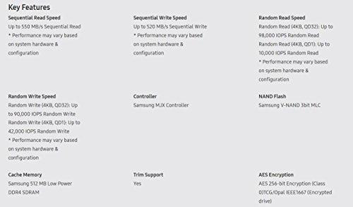 Samsung 860 Evo 500GB 2.5 inch SATA III Internal SSD (MZ-76E500B/AM)
