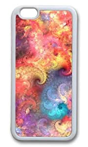 MOKSHOP Adorable fractal abstract patterns Soft Case Protective Shell Cell Phone Cover For Apple Iphone 6 Plus (5.5 Inch) - TPU White