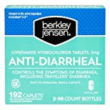 Berkley Jensen Anti-Diarrheal Medicine Loperamide Hydrochloride Tablets 2 mg 192 Caplets Per Order
