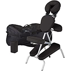 EARTHLITE Vortex Portable Massage Chair Package - Portable, Compact, Strong Lightweight (15lb) incl. Carry Case, Sternum Pad & Strap