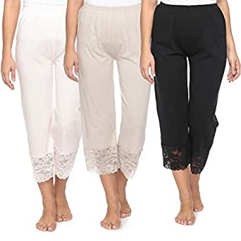 Mark-On Multi Color Straight Capris Pant For Women