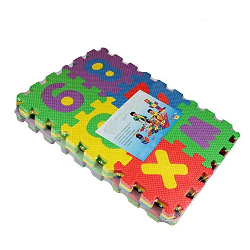 Generic Kids Alphabets and Numbers Puzzle Mat for Kids -(Multicolour)-Set of 36 Jigsaw Puzzles at amazon