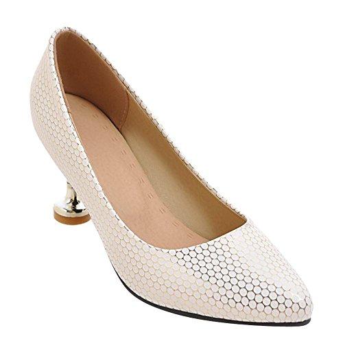 Mee Shoes Damen elegant high heels Geschlossen Pumps Gold
