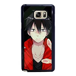 Generic Fashion Hard Back Case Cover Fit for Samsung Galaxy Note 5 Cell Phone Case black Japanese cartoon animation with Free Tempered Glass Screen Protector NUR-1728443