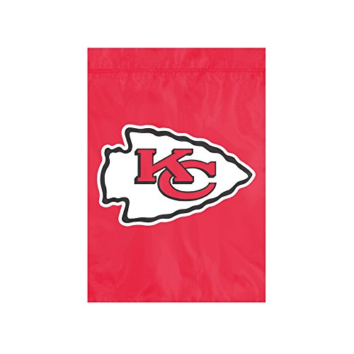 "The Party Animal NFL Kansas City Chiefs NFL Garden Flag, Red, 18"" x 12.5"""