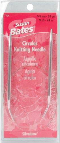 Susan Bates 24-Inch Silvalume Circular Knitting Needle, 6.5mm (Silvalume Needles Knitting Aluminum Circular)