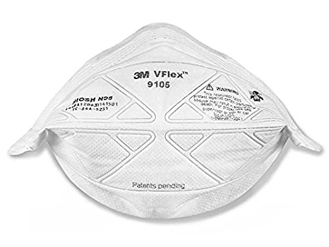 9105 3m Respirator Box Amazon Vflex co Large Particulate 50 N95