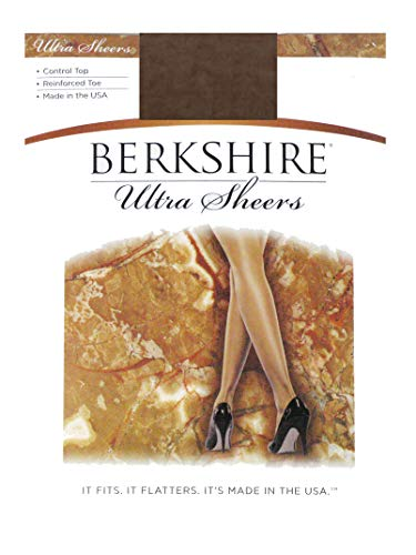 Berkshire Women's Ultra Sheer Control Top Pantyhose 4419 - Reinforced Toe, French Coffee, Size 3