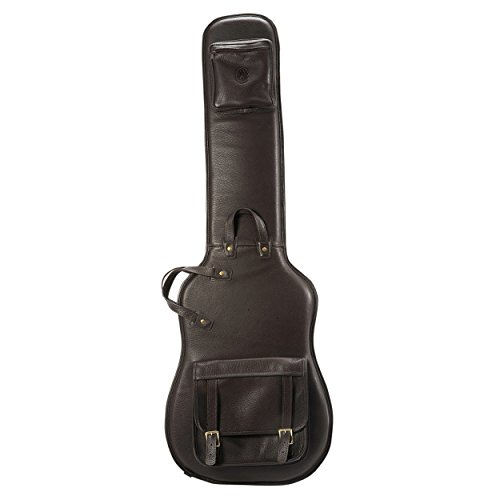 Levy's Leathers LM19-DBR Deluxe Leather Bass Guitar Bag, Dark ()