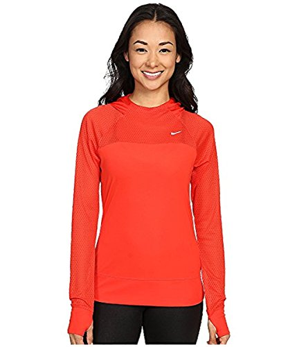 Nike Womens Dri-Fit Run Fast Hoodie, Orange, Medium, 849880 680 by NIKE