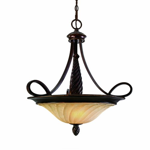 - Golden Lighting 8106-3P CDB Torbellino Pendant Bowl, Cordoban Bronze Finish