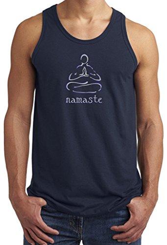 Yoga Clothing For You Mens Tank Top - Namaste Lotus Pose