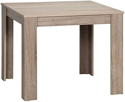 Cavadore Tisch Nick Kleiner Praktischer Kuchentisch 80 X 80 Cm Aus Melamin Eiche Sagerau Truffel Esstisch
