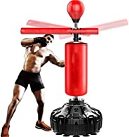YFFSS Boxing Speed Trainer Punching Bag Spinning Bar Punch Bag Height Adjustable-Freestanding Punching Ball Sp