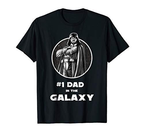 Star Wars Darth Vader #1 Dad In The Galaxy Graphic T-Shirt (Best Dad In The Galaxy Shirt)