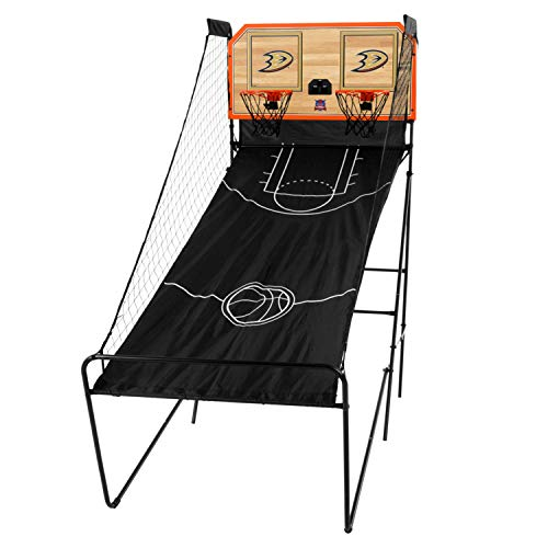 Victory Tailgate Anaheim Ducks NHL Double Shootout - Ready-to-Play with Four Basketballs, Pump and Needle