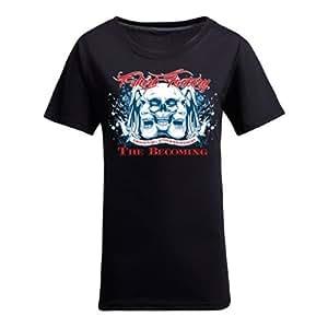 Custom Womens Cotton Short Sleeve Coolest Skulls Printed Round Neck T-Shirt