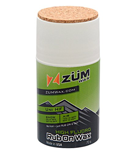 ZUMWax HIGH FLUORO RUB ON WAX Ski/Snowboard – All Temperature Universal - 70 gram - HIGH FLUORO racing RUB ON wax at incredible price!!! Super-FAST!!! by ZUMWax
