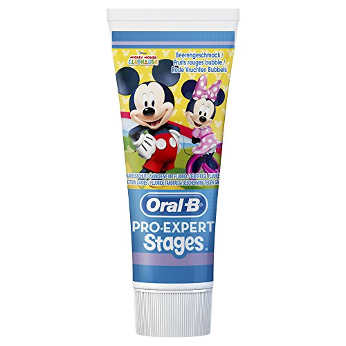 Oral-B Pro-Expert Stages Zahnpasta mit Figuren aus Disneys Mickey Maus, 3er Pack (3 x 75 ml)