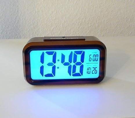 Reloj digital con Sensor nocturno, Despertador Despertador digital Despertador de viaje (SH-1019