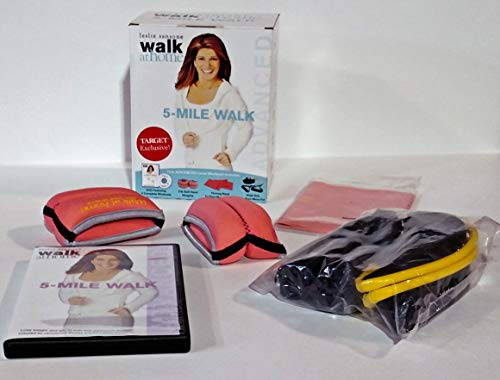 - Leslie Sansone Walk At Home 5 Mile Walk Advanced Level Workout DVD (With Firming Band, 2-lb Soft Hand Weights, Walk Belt)