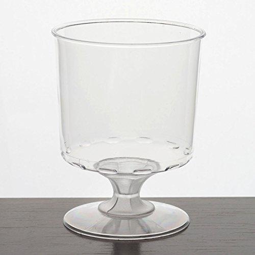 Efavormart 60 Pcs - Clear 6oz Elegant Design Disposable Plastic Wine Glass