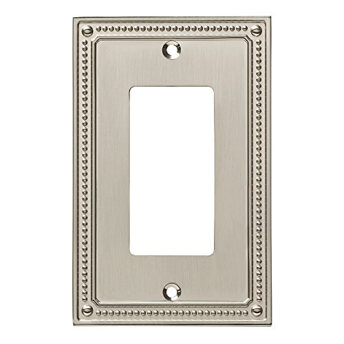 Switchplate Beaded - Franklin Brass W35060-SN-C Wall Switch Plate, Single, Satin Nickel