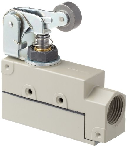 General Switch Enclose Purpose - Omron ZE-QA2-2S General Purpose Enclose Switch, High Breaking Capacity and Durability, Roller Arm Lever, Single Pole Double Throw AC, Side Mounting, 1/2-14NPSM Conduit Size