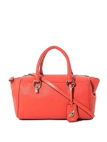 Diane Von Furstenberg Red Sutra Leather Duffle Bag