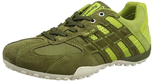 Geox UOMO SNAKE K U4207K01422C6105 Herren Sneaker Grün (Musk/lime Greencb33s)