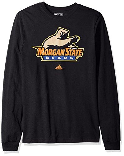 Adidas Morgan State Bears - adidas NCAA Morgan State Bears Adult men School Logo L/S Tee,Large,Black