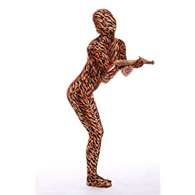 - 41HwoV0iw0L - Halloween Cosplay Full Bodysuit Animal Pretend Play Tiger Dress Up Zentai Costume