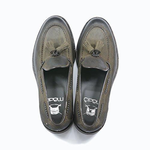 Mocassin Madò En Cuir Ciré Avec Des Glands Fait À La Main Chaussures Couleur Moro Tête Des Hommes Italien Chaussures En Cuir Mocassins Made In Italy